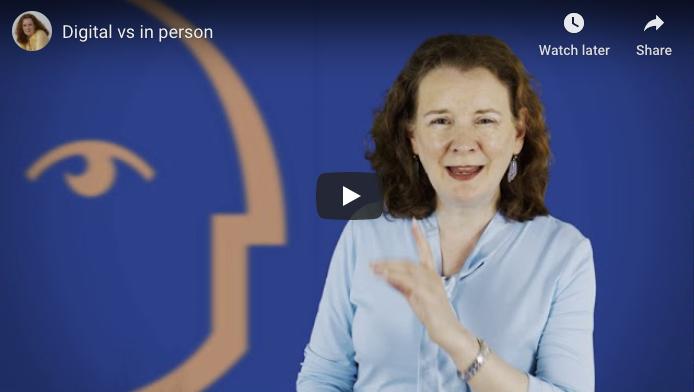 [Video] Digital vs In Person